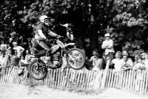 Gene Ritchie in his riding days at the 1972 Trans-Am in Elkhart, WI.