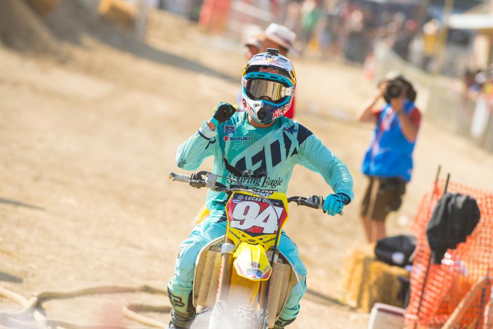 Despite some misfortune, Roczen maintains control of the red number plate as points leader. Photo: Simon Cudby