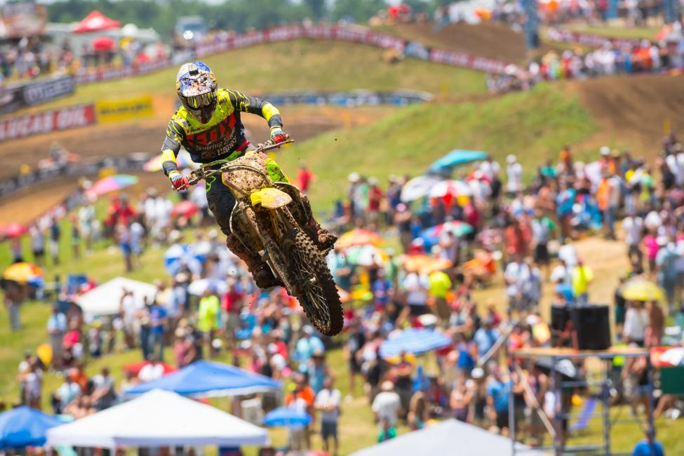 Roczen has won nine of 10 motos this season with four overall wins. Photo: Simon Cudby