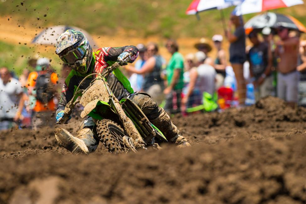 Savatgy endured through a trying second moto to salvage second overall. Photo: Simon Cudby